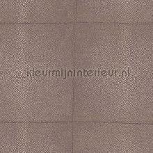 Shagreen brown taupe behang Arte exclusief