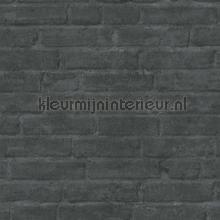 Bakstenen muur antraciet papel pintado Kleurmijninterieur rayas