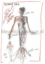 Sketch van Karl Lagerfeld fottobehaang AS Creation van vruuger kèèij nèèijt