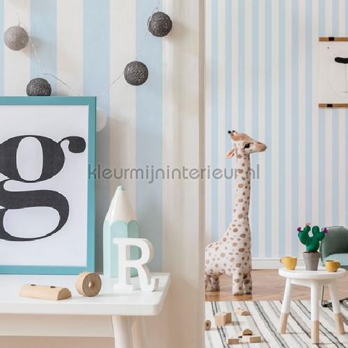Pastel Blue Stripe behang 100097 strepen Noordwand