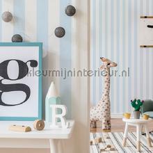 Pastel Blue Stripe papel de parede Noordwand Wallpaper creations