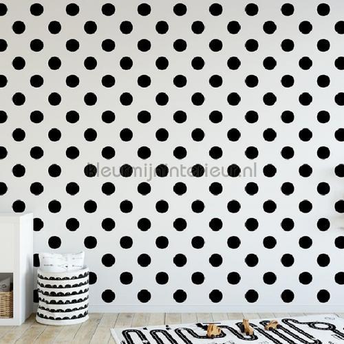 Dotty Grey Wallpapier  papier peint behang 100102 stippen Noordwand