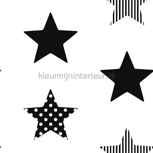 Superstar Black Wallpapier papier peint behang 100110 sterren Noordwand