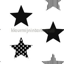 Superstar Black Wallpapier papier peint Noordwand stress