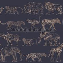 Safari Midnight tapet Noordwand Wallpaper creations