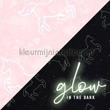 Illumicorn Pink Glow in The Dark tapet Noordwand urban