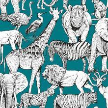 Jungle Animals Vert tapet Noordwand Wallpaper creations