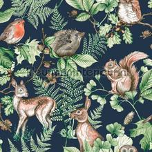 Woodland Animals Navy tapet Noordwand Wallpaper creations