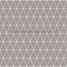 Triangolin Gris papier peint Noordwand Wallpaper creations