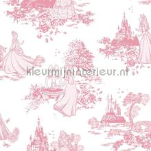 Pricess Pink Toile wallcovering Noordwand urban