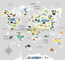 Worold Map Mural fottobehaang Noordwand alle ploatjes