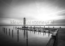 Lighthouse in black and white fotomurais Kleurmijninterieur Todas-as-imagens