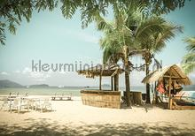 Beach bar in bright colors fotomurais Kleurmijninterieur Todas-as-imagens