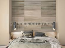 Geschakeerde horizontale lijnvlakken photomural Behang Expresse Light and Dark ink7535