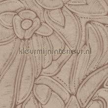 Flore terracotta papel pintado Arte Vendimia Viejo
