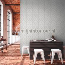 Grafisch patroon op betonlook behang AS Creation Grafisch Abstract