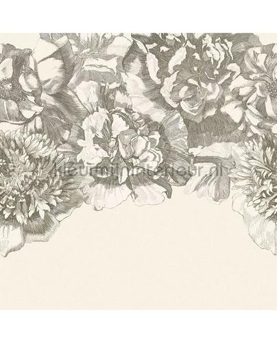 307404 Flower fall black  white fotomurales clásico Eijffinger