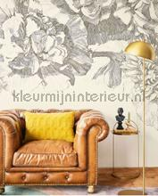 307404 Flower fall black white papier murales Eijffinger nouvelles collections