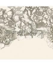 307404 Flower fall black white papier murales Eijffinger tout images