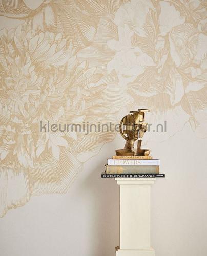 307405 Flower fall gold tapet Museum Eijffinger