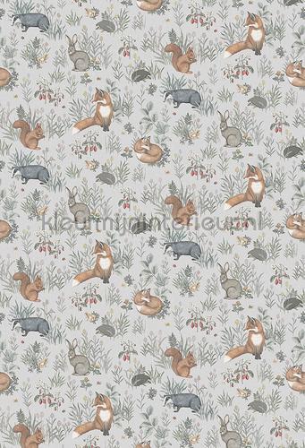 Forest Friends Mural papier murales 7480 chambre de bébé Boras