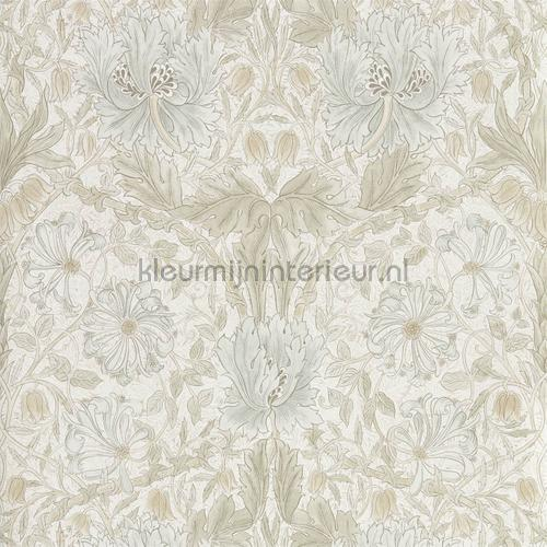 Pure honeysuckle and tulip tapet 216526 North Wallpapers Morris and Co
