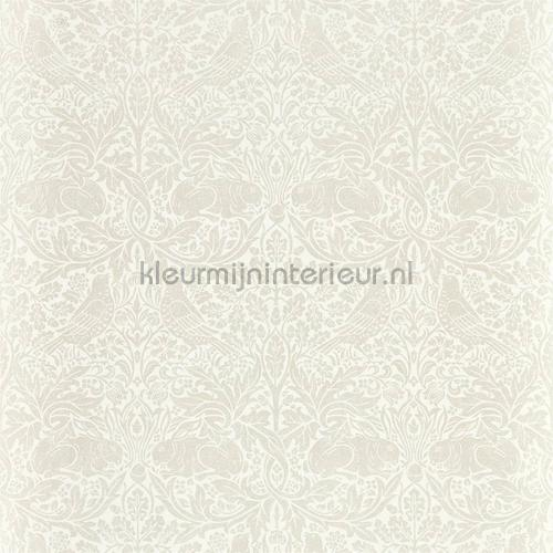 Pure brer rabbit white clover tapet 216534 North Wallpapers Morris and Co