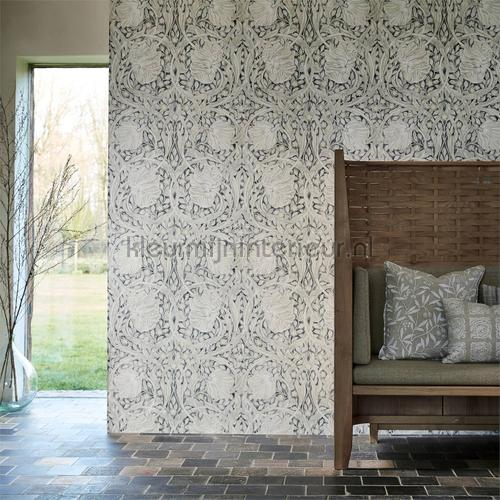 Pure pimpernel black ink tapet 216539 North Wallpapers Morris and Co