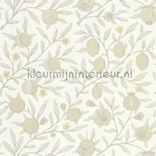 Pure fruit Horned popy grey behang Morris and Co klassiek