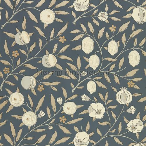 Pure fruit black ink tapet 216543 North Wallpapers Morris and Co