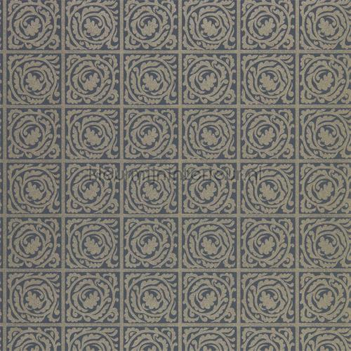 Pure scroll black ink tapet 216547 North Wallpapers Morris and Co