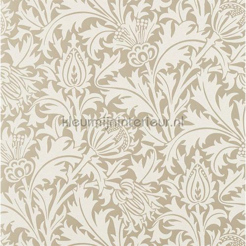 Pure thistle gilver tapet 216548 North Wallpapers Morris and Co