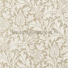 Pure thistle gilver papel pintado Morris and Co rayas