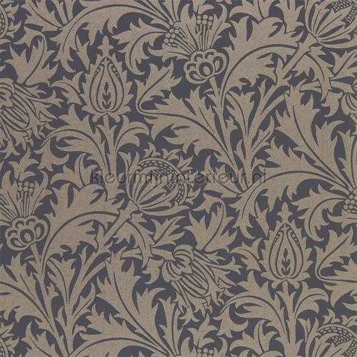 Pure thistle black ink tapet 216549 North Wallpapers Morris and Co