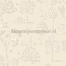 Panters en bomen behang Eijffinger Zoffany