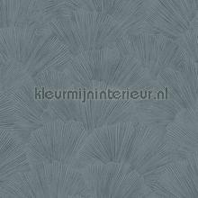 Lijngetekende waaier bladeren behang Eijffinger Zoffany