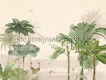 Palmen en kraanvogels fototapet Eijffinger alle billeder