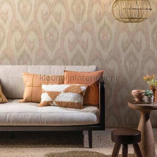 Ikat wallcovering ODE5102 wallpaper by meter Arte
