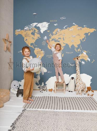 World Map fotomurales OUP102032066 habitación juvenil niños Caselio