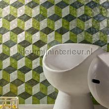 Cubic Ever green behang Arte exclusief