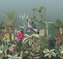 Botanische sfere met exotische dieren fototapet Behang Expresse alle billeder