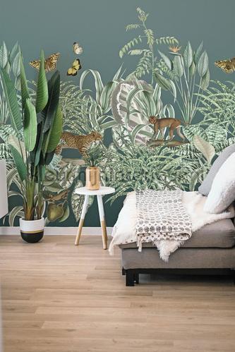 Exotische groene tuin fototapet TD4102 jungle Behang Expresse