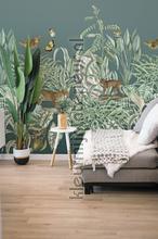 Exotische groene tuin fototapet Behang Expresse alle billeder