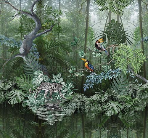 Midden in de jungle fototapeten TD4104 Blumen - Pflanzen Behang Expresse