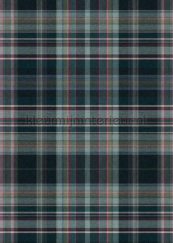 Schotse ruit blauw grijs fototapet TD4106 klassiske Behang Expresse