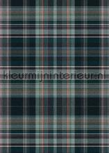 Schotse ruit blauw grijs photomural Behang Expresse all images