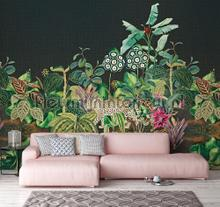 Jungle tegen een diepblauwe achtergrond fototapet Behang Expresse alle billeder