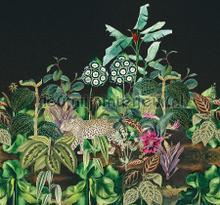 Jungle tegen een diepblauwe achtergrond photomural Behang Expresse all images