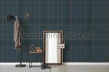 Schotse ruit blauw grijs fototapet Behang Expresse stemning