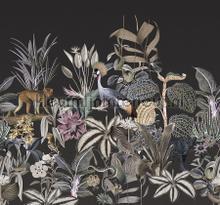 Botanische sferen met exotische dieren fototapet Behang Expresse alle billeder